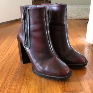 ZARA deep red boots